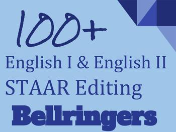 100 English I & English II STAAR Editing Questions