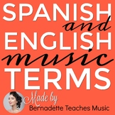 English & Spanish Music Terms Vocabulary Cards & Posters