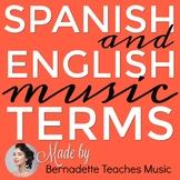 English & Spanish Music Terms Vocabulary Cards