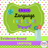 100 Exit Slips for Language Skills
