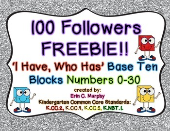 100 FOLLOWERS FREEBIE!! I Have/Who Has Base 10 Game