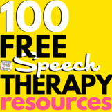 100 FREE Speech and Language Therapy Freebies for Distance