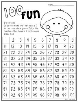 100 FUN {100 chart coloring activities}