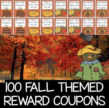 100 Fall Themed Reward Coupons