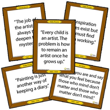 100 Famous Art Quotes Classroom Posters - Inspirational Sayings for Students