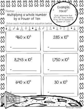 100 Fifth Grade Space Theme No Prep Language, Reading, Writing, & Math Work