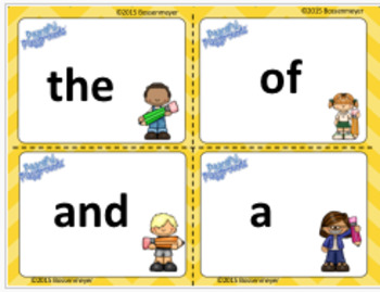 100 First Sight Words Cards and Active Games