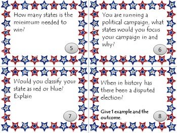 Electoral College Task Cards