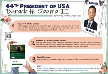 100 Follower Freebie - Barack Obama Mini Book Foldable