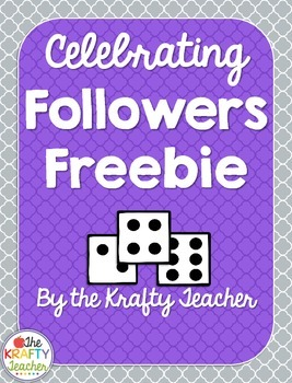 Celebrating Followers Freebie - Roll & Write,Trace Sample
