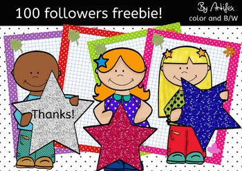 100 Followers FREEBIE!! *clipart*