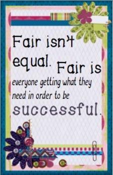 Followers Freebie: Fair isn't equal Poster