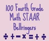 100 Fourth Grade Math STAAR-like Bellringers