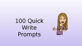 100 Writing Prompts With Bitmojis