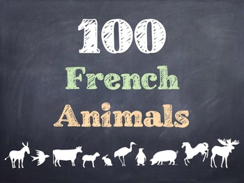 100 French Animals PowerPoint