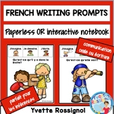 French Writing Prompts Écriture ou communication orale GRATUIT