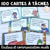 French Writing Task Cards - 100 cartes à tâches - centre d'écriture