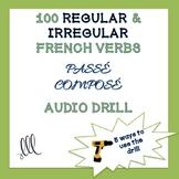 100 French regular & irregular verbs passé composé drill - Conjugation practice