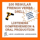 100 French regular verbs present tense drill listening and
