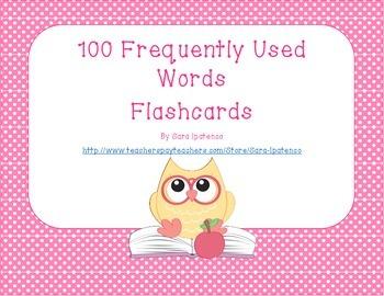 Sight Words Flashcards: Pink Polka Dots