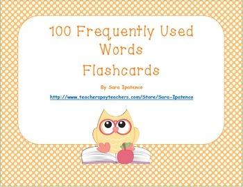 Sight Words Flashcards: Orange Polka Dots