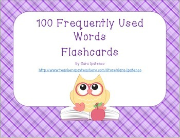 Sight Words Flashcards: Purple Plaid