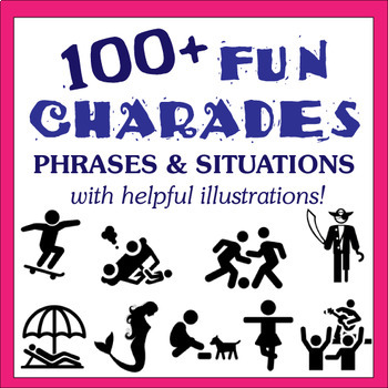 Charades with Fun Illustrations - Perfect for Drama and ESL Games!