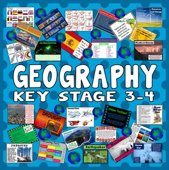 100 GEOGRAPHY ACTIVITIES GAMES STARTERS TASKS- key stage 3-4 -TEACHING RESOURCES
