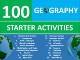 100 Geography Starter Activities Wordsearch Crossword Anagrams Homework