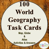 Geography Task Cards - 100 - Activities and Worksheets.