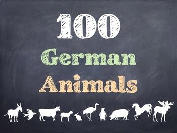 100 German Animals PowerPoint