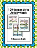 100 German Verbs Activity Cards