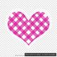 100 Gingham Heart Frames, Planner Wedding Scrapbook