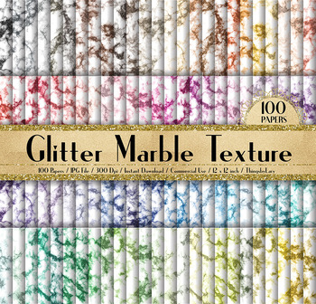100 Glitter Marble Texture Digital Papers