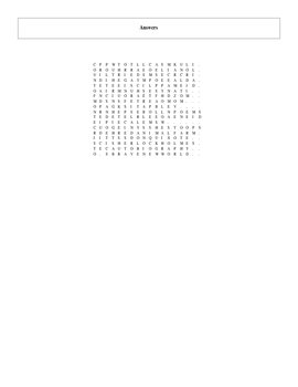 100 Greatest Books Ever Written Part II Word Search with Key