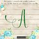 100 Green Glitter Alphabet Number Symbol Letter Clip arts NOT A FONT
