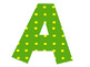 100 Green clip arts of the Alphabet, Numbers and Symbols (Polka dots)