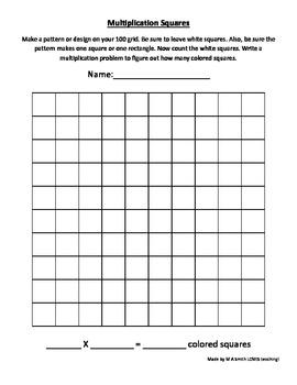 100 Grid Multiplication Art