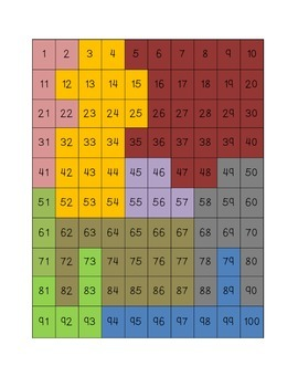 100 Grid Puzzles for Centers or Transition Activities