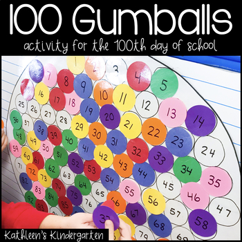 100 Gumballs for the 100th Day of School