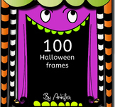 100 Halloween frames!-color and black/white-