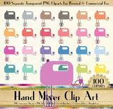 100 Hand Mixer Clip Arts, Kitchen, Cooking, Baking, Cupcake