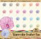 100 Hand Painted Watercolor Antique Royal Handy Feather Fan Clip Arts