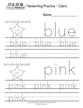 100 Handwriting Worksheets