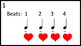 100 Heartbeats for Kodaly Rhythmical Training
