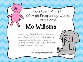100 High Frequency Words - Fountas and Pinnell - Mo Willems Version