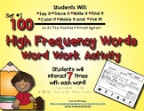 100 High Frequency Words Practice  - For Fountas & Pinnell Optional Assessments