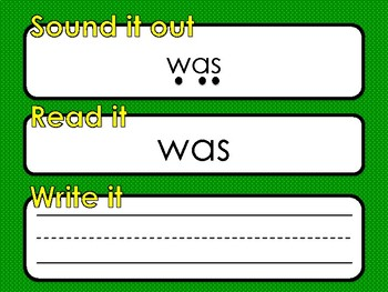 100 High Frequency Words - Sound it out, read it, write it