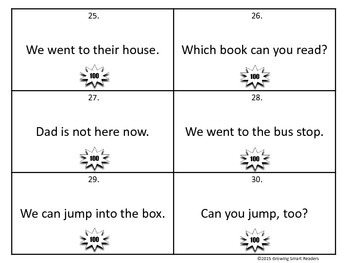 High Frequency Words in Sentences to Read and Write