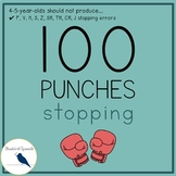 100 Hole Punches: Phonological Process of Stopping F-V-S-Z-CH-J-TH-SH Sounds